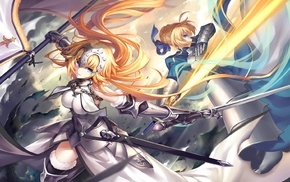 Fate Series, sword, anime girls, Saber, Ruler FateGrand Order, FateApocrypha