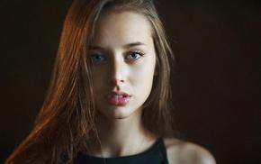 model, girl, face, Olesya Grimaylo, portrait, brunette