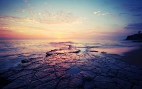 stones, sea, photography, coast, water, nature