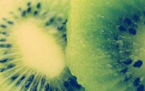 macro, food, kiwi fruit, photography