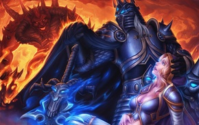 fantasy art, World of Warcraft, Diablo III, Lich King, Jaina Proudmoore, artwork