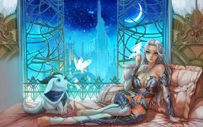 girl, fantasy art, artwork