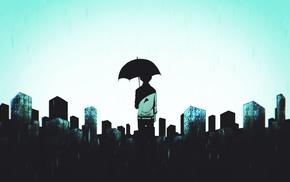 anime boys, umbrella, Kaneki Ken, Tokyo Ghoul, anime, building