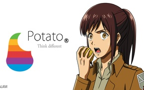 potatoes, anime girls, Shingeki no Kyojin, Blouse Sasha, anime