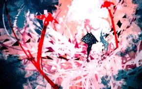 Nano Mortis, digital art, mosaic, rabbits, abstract, artwork