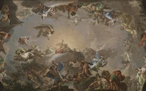 Greek mythology, clouds, artwork, classic art, giant, Putti