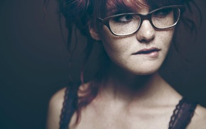 redhead, freckles, nerds, glasses