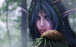 World of Warcraft, video games, Blizzard Entertainment, elves, fantasy girl
