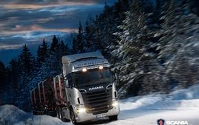 Truck, Scania, vehicle