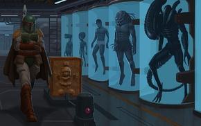 Alien movie, Marvin the Martian, Star Wars, Spock, E.T., Boba Fett