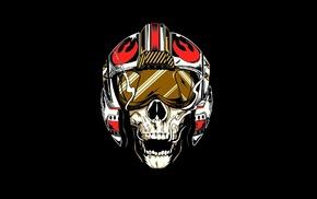 Star Wars, skull, Rebel Alliance, pilot