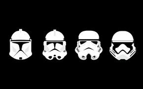 Storm Troopers, Star Wars, helmet, minimalism