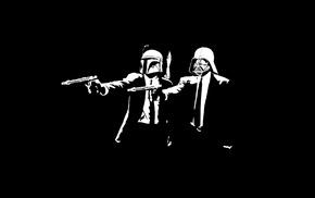 Boba Fett, fictional, Pulp Fiction, Darth Vader, Star Wars, minimalism