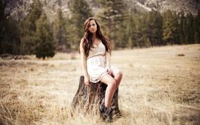 girl, depth of field, girl outdoors, looking at viewer, long hair, legs