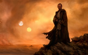 Obi, Wan Kenobi, Tatooine, Star Wars, Jedi, artwork