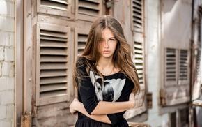 depth of field, brown eyes, girl, juicy lips, portrait, brunette