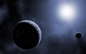 Moon, planet, space