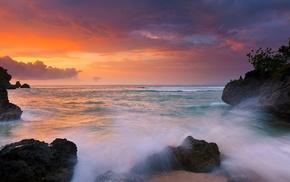 Indonesia, sky, sea, landscape, rock, Bali