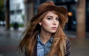 blonde, girl, Maxim Guselnikov, portrait, model, Irina Popova