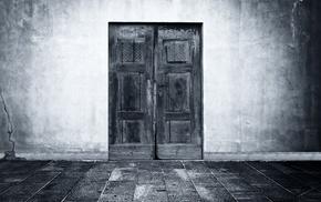 door, monochrome