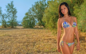 model, bikini, girl, girl outdoors