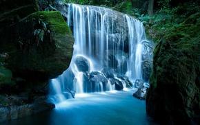 water, waterfall, nature