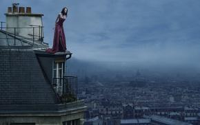 Paris, girl, model, rooftops