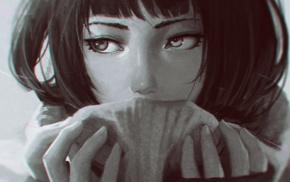 emotional, sad, monochrome, portrait