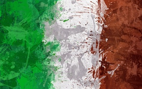 green, red, flag, artwork, Italy, white