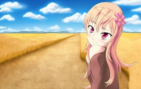 wheat, original characters, anime girls, anime