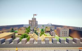 Minecraft, Kingdom, castle