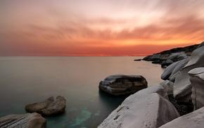 rock, landscape, coast, water, sea, nature