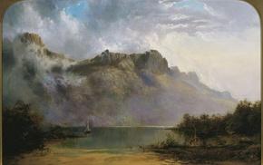 WC Piguenit, Greek mythology, mount olympus, classic art, painting, artwork