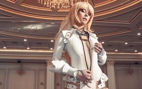 Saber Bride, blue eyes, leather clothing, boots, Helly von Valentine, blonde