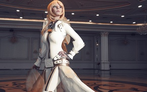 ballroom, blue eyes, cosplay, boots, leather boots, Saber Bride