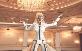 Helly von Valentine, leather clothing, Saber Bride, cosplay, blue eyes, Disharmonica