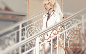 leather clothing, Disharmonica, Saber Bride, blonde, Helly von Valentine, suits
