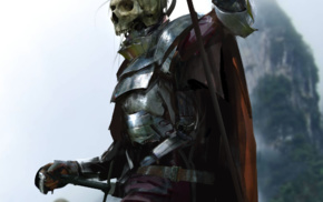 drawing, dead, armor, undead, death, fantasy art