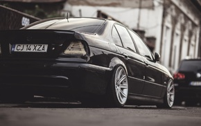 BMW, BMW M5 E39, sports car, E 39, Stance, black