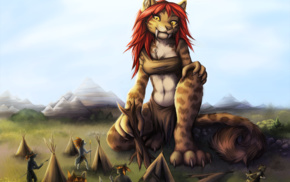 giant, furry, tribal, Anthro