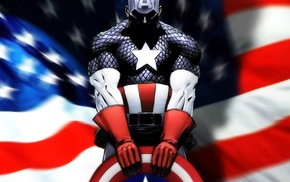 shield, Captain America, costumes, flag, superhero, comics