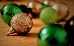 Christmas ornaments, macro