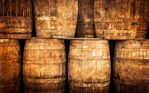 barrels, wooden surface, numbers, nails, cellars, wood