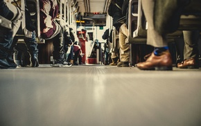 shoes, urban, tram, legs