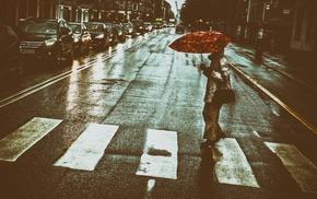 street, urban, umbrella