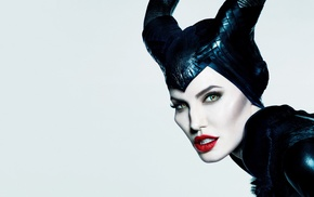 juicy lips, Disney, eyes, Maleficent, Angelina Jolie, simple background