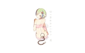 anime, anime girls, Yurizaki Mira, Dimension W, short hair