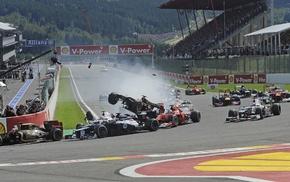 race tracks, Formula 1, car, crash