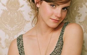 actress, auburn hair, portrait display, celebrity, girl, Emma Watson