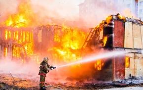 destruction, fire, fire man